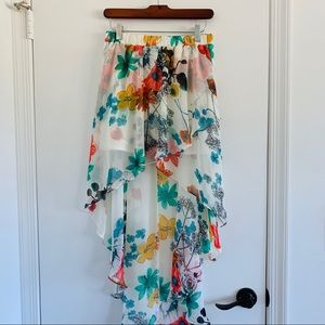 Joe Benbasset Floral High Low Skirt